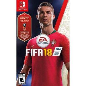 $16.99 (原价$29.99)限今天:《FIFA 18》 Nintendo Switch 游戏