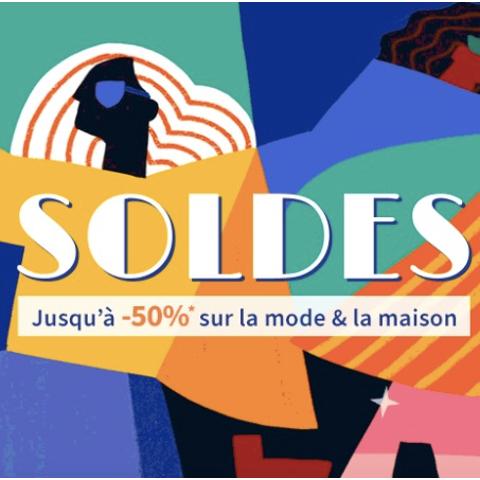 低至4折 Levi's logoT恤€14法国打折季2021:La Redoute 全场大促 白菜价收美衣、家居