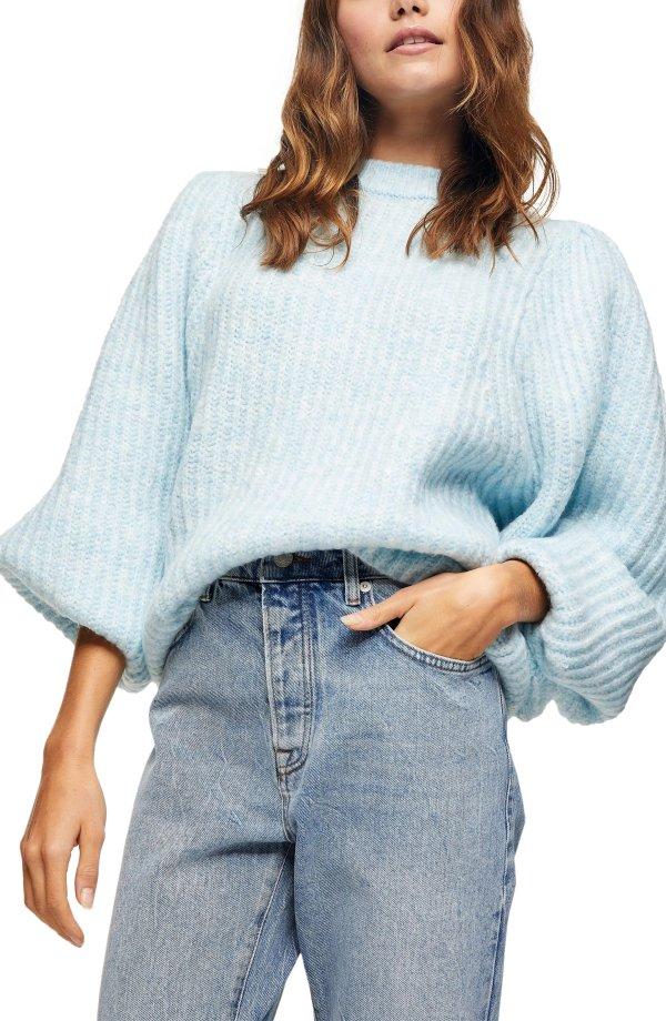 泡泡袖毛衣