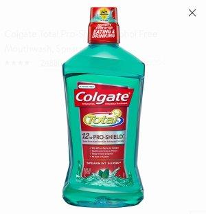 $4.96Colgate Total Pro-Shield Alcohol Free Mouthwash, Spearmint - 1L