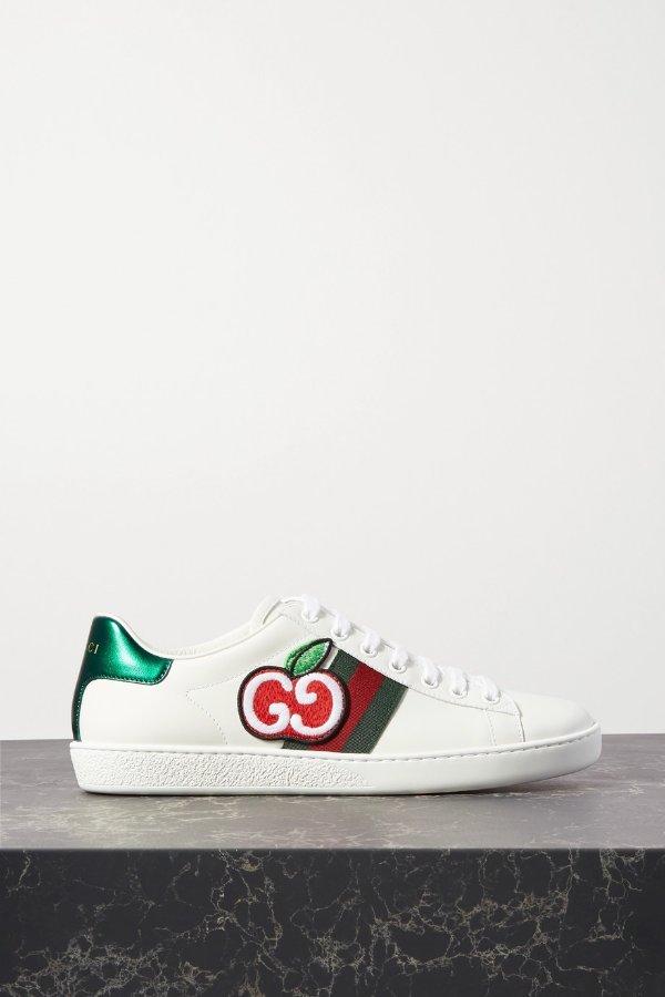Ace appliqued 平底鞋