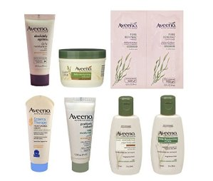 Free after Credit Aveeno Sample Box (get a $7.99 credit toward future purchase of select Aveeno products)