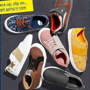 最低$3 童袜6双$8.79OshKosh BGosh 儿童秋冬鞋款多买多省 运动鞋$19