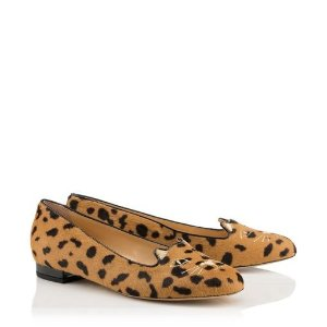 Charlotte OlympiaWomen's Designer Flat Shoes |- KITTY FLATS