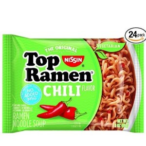 $4.80Nissin Top Ramen, Chili, 3 Ounce (Pack of 24)
