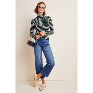 AnthropologiePaige Nellie High-Rise Culotte Jeans