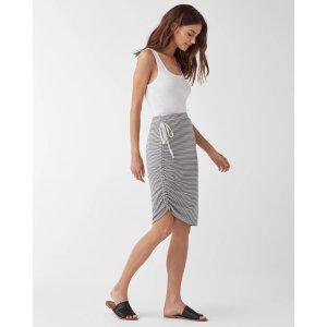 SplendidAlto Asymmetrical Stripe Skirt