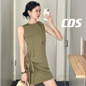 COS系带连衣裙