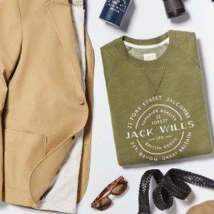 5折再8折Jack Wills 英国品牌Labor Day大促 英伦校园风混搭男装热卖