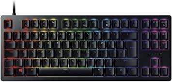 Huntsman Tournament Edition - Clavier Premium avec touches opto-mecaniques, activation optique, barre de stabilisation des touches, durabilite inegalee,Synapse 3 - US Layout - Noir