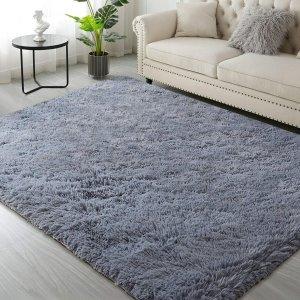 IDECLITY 4 x 6Ft 长绒地毯 灰色