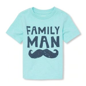 The Children's PlaceBaby And Toddler Boys Short Sleeve 'Family Man' Graphic Tee