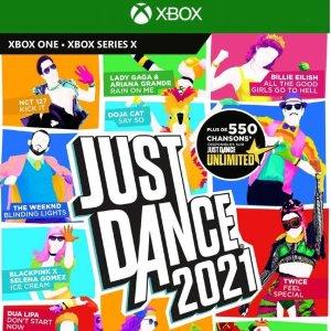 《舞力全开2021》Xbox One实体版热卖 在家疯狂尬舞吧