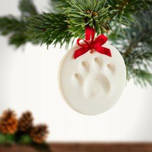 降价 $4.99 毛孩子也是家人Pearhead 可自制宠物爪爪粘土圣诞挂饰