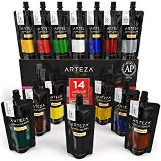 低至7.4折限今天:Arteza 无毒艺术颜料 软毛刷笔特卖
