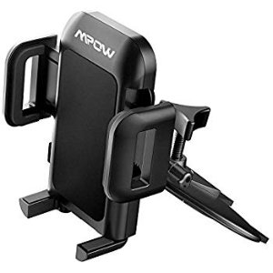 Amazon.com: Mpow 051 Car Phone Mount, CD Slot Car Phone Holder, Car Mount with Three-Side Grips and One-Touch Design Compatible iPhone 11/11Pro/Xs MAX/XR/XS/X/8/8Plus, Galaxy S10/S10+/S10e/S9/S9+/N9/S8, Google: Cell Phones & Accessories