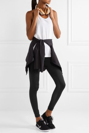 Nike | Power mesh-paneled Dri-FIT stretch leggings | NET-A-PORTER.COM