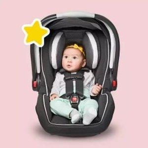 最高省 $75Graco、Chicco、Evenflo等优选儿童汽车座椅、童车特卖 @ Target.com