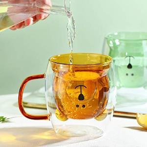 低至€9.76 收透明小熊款LINCMAN 双层玻璃杯热促 超高颜值 喝水也要可可爱爱