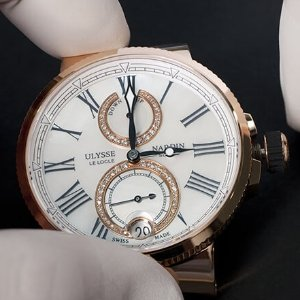 Extra $4000 OffULYSSE NARDIN 18kt Rose Gold Automatic Ladies Watch