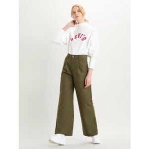 Levi's高腰阔腿裤