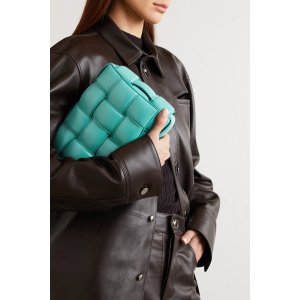 Bottega VenetaCassette padded intrecciato leather shoulder bag