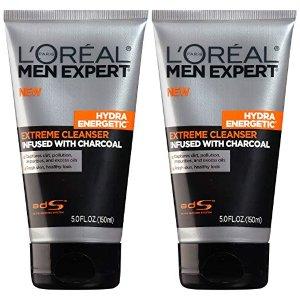 $5.96L'Oréal Paris Men Expert Hydra Energetic Charcoal Cream Cleanser, 2 count