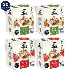 $7.5 包邮Quaker桂格 烘焙夹心燕麦饼 苹果肉桂/草莓 共20块