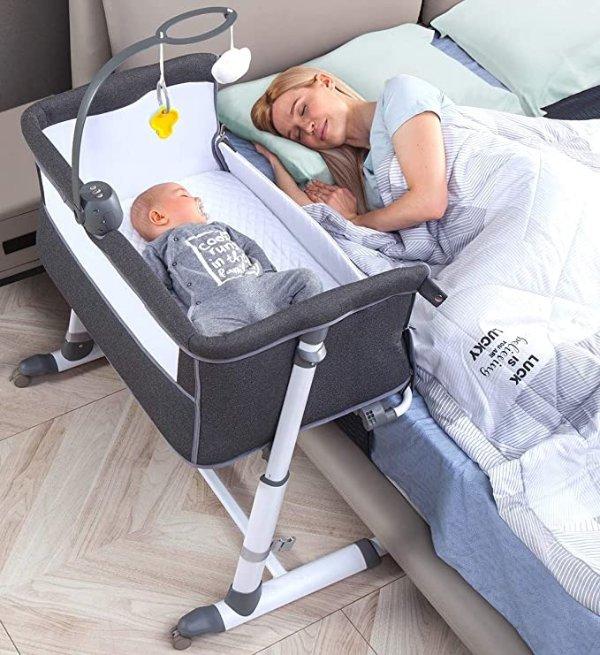 枕边婴儿床带床铃款