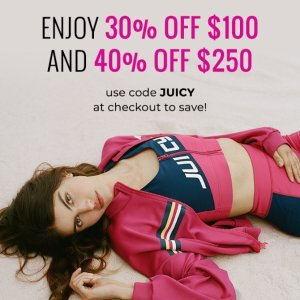 Up To 40% OffAll Clothing @ Juicy Couture
