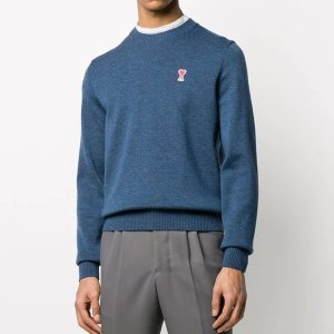 Ami7折,100% 羊毛爱心毛衣