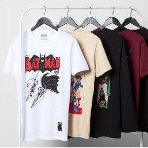 低至2折+满£10包邮 正版短袖穿起来Marvel、Star War、DC正版周边夏季清仓