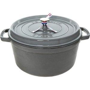 Staub28cm Grey Gloss 铸铁锅