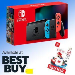 $299Nintendo Switch System + 128GB MicroSDXC