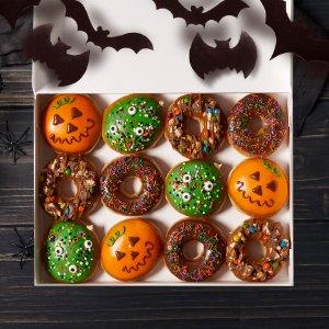 甜甜圈免费领预告:Krispy Kreme 万圣节当日化妆派对活动