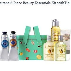 L'OccitaneQVC.com6-Piece Beauty Essentials Kit withTin