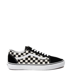 VansOld Skool Checkerboard Skate Shoe - Black / White