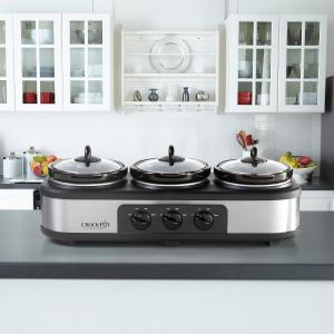 Crock-Pot Trio 不锈钢慢炖锅及食物加热器