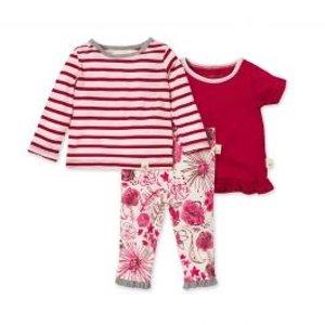 Burt's Bees Baby女婴有机棉3件套套装