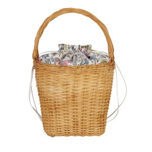 Edie Parker Lily Drawstring Wicker Basket Bag