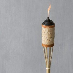 $2.5TIKI 57英寸高竹制户外花园驱蚊火把