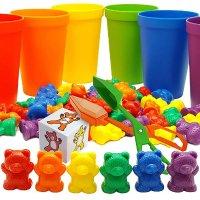 Skoolzy 彩虹熊计数,70个零件