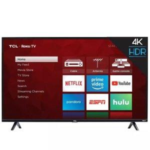 TCL 4系列 50吋 4K UHD HDR Roku智能电视