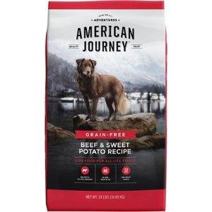 American JourneyBeef & Sweet Potato Recipe Grain-Free Dry Dog Food, 24-lb bag - Chewy.com