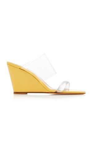 MARYAM NASSIR ZADEH Olympia PVC Wedge Sandals