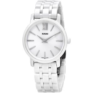 RadoDiaMaster Roman Mini White Dial Ceramic Case and Bracelet Ladies Watch DiaMaster Roman Mini White Dial Ceramic Case and Bracelet Ladies Watch