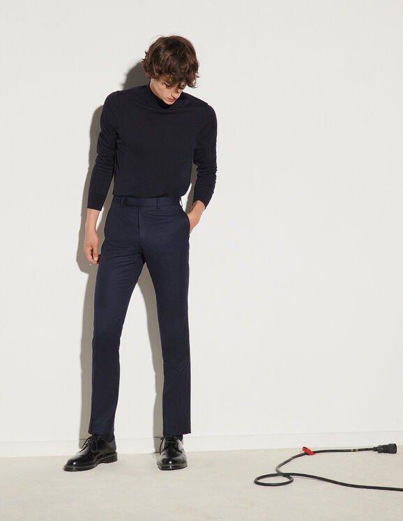 法兰绒裤子
