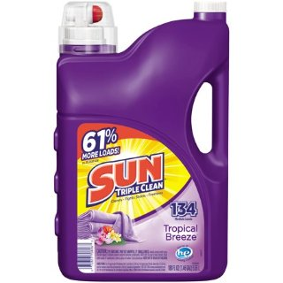 $5.97Sun Liquid Laundry Detergent, Tropical Breeze, 188 Ounce, 134 Loads
