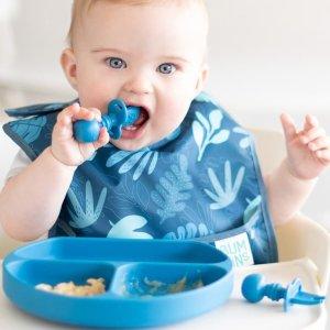 6折 包邮包退Bumkins 婴幼儿围兜餐具套装 两色可选