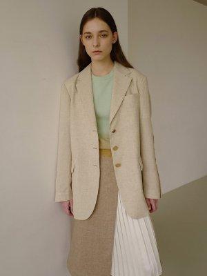 Leah Resort Linen Jacket awa245w Beige | W Concept